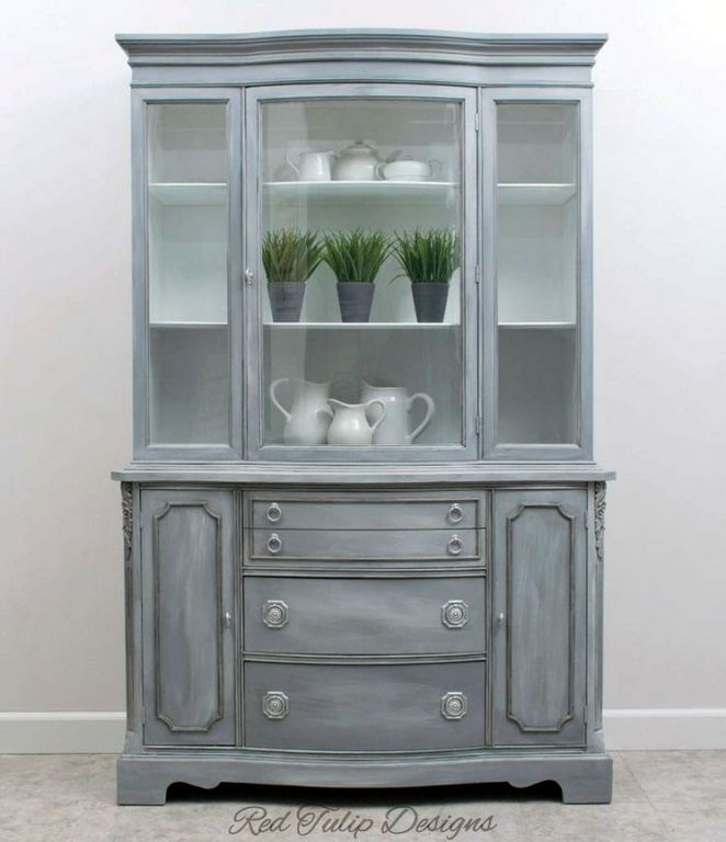 Diy Glazing Kitchen Cabinets: +20 The Most Popular Gray Glazed Kitchen Cabinets Diy 80