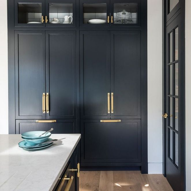 20 Ideas For Grey Kitchens Both: +30 Choosing Good Navy Blue Kitchen Cabinets Paint Colors